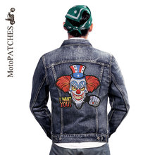Iron On Patches HARLEY RIDER Embroidery Patches Clown Funny Personality Large Embroidery Mc Patches Hot Sale