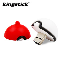 Hot Sale Pokemon Model pendrive Pocket Monster Poke Ball usb flash drive 4GB 8GB 16GB 32GB 64GB memory stick pen drive gift