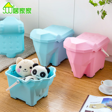 Shoes tabouret bench chair storage stool cartoon plastic toy storage box finishing box