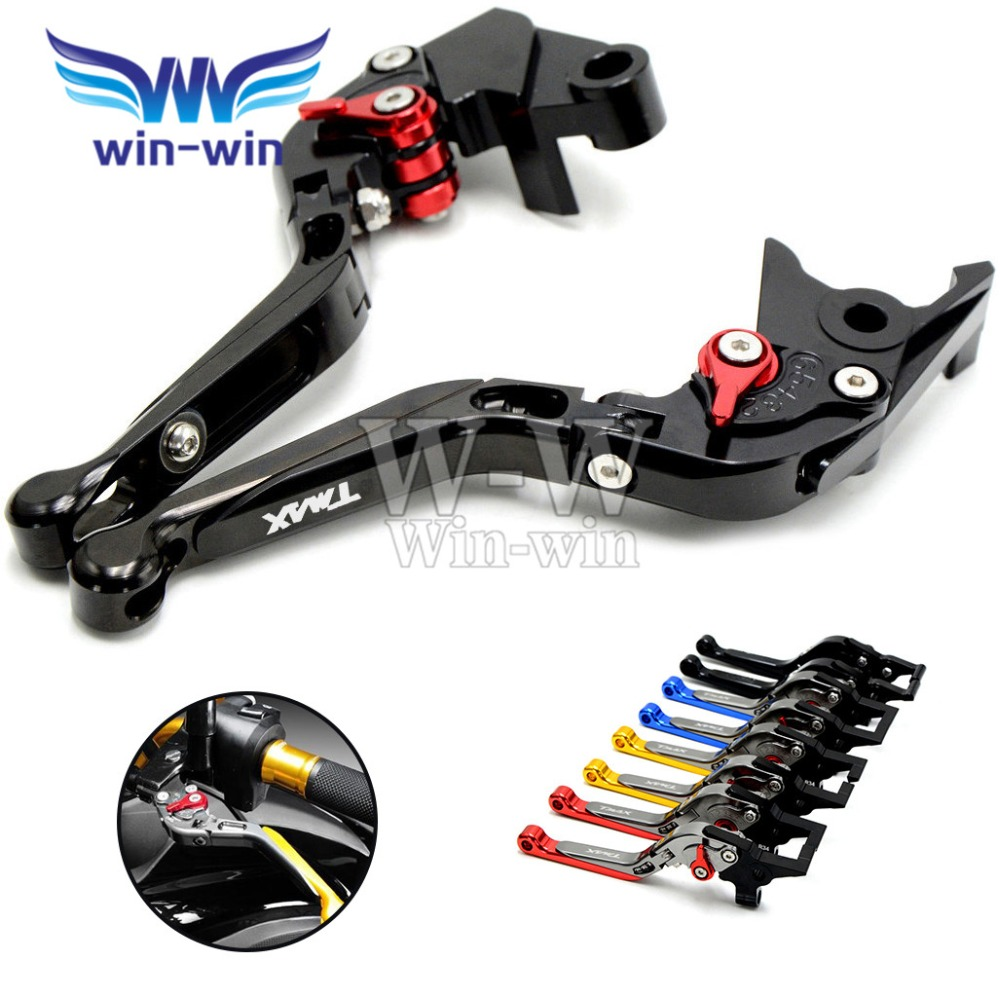 Adjustable motorcycle brake clutch levers For Yamaha TMAX500 TMAX 500 T-MAX500 T-MAX 500 XP500 2008 -2012 2009 2010 2011<br><br>Aliexpress