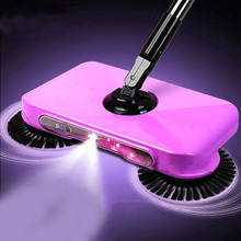 1Pcs Stainless Steel Sweeping Machine Hand Push Type Magic Broom Sweeper Floor Dustpan Vacuum Cleaning Tool For Home