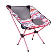 1PC Aluminum Folding Camping Chair Seat For Fishing Hiking Beach Picnic Outdoor Tool(China)