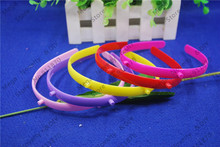 Wholesale 50pcs/lot DIY 11mm plastic headband with teeth horn holder candy color DIY Craft tools Jewelry Hair Accessories DIY876(China)