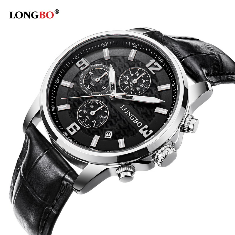 Genuine Leather Strap Watches Men Casual Quartz-watch Calendar Quartz Men Watches Brand Luxury Famous Little Dials Wristwatches<br><br>Aliexpress