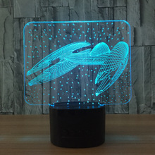 Star Trek 3d Lamp Indoor Bluetooth Speaker Usb Music 3d Light Color Changeable Lampara Kid Gift Usb Led Light Night Lamp