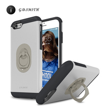 "G.D.SMITH Luxury Ring Cover Case for iPhone 6 6s Unique Cell Phone Coque For Apple iPhone6 6s 4.7"" Retail and Wholesale 2016 New(China)"