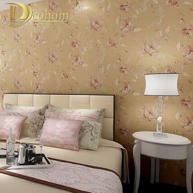 Non-Woven Embossed Country Style Floral Pattern Mural Wallpaper 3D Bedroom Background Modern Decoration Wall paper Roll R394<br>