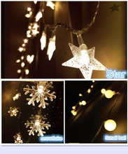 2M LED Portable fairy string lights snowflake/star/small ball design,home, bedroom, wedding,patio decor ,powered by 3AA battery(China)