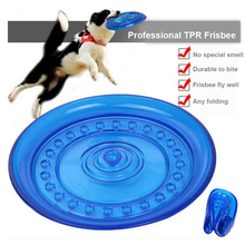 Non-toxic TPR Material flying discs Pet Dog Toy Interactive trainning Frisbee