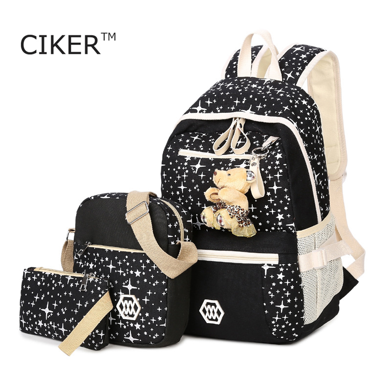 CIKER Brand Factory wholesale canvas printing backpacks for teenage girls school bags backpack women mochila mujer 2017 rucksack<br><br>Aliexpress