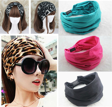 2015 New variety of wear method Cotton Elastic Sports Wide women Headbands for women hair accessories turban headband headwear