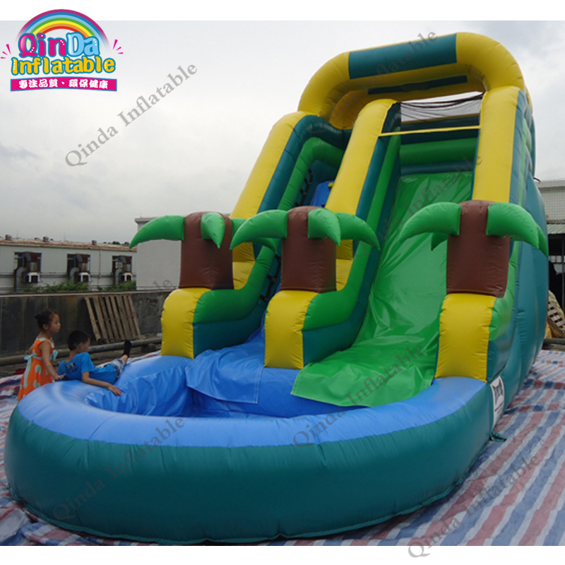 inflatable water slide with pool192