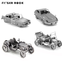 Finger Rock 3D Metal Puzzles DIY Toys Vehicle Model Ford Vintage Taxi Beetle Racing Car Tractor Jigsaws Present Gift Collection