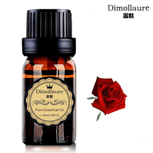 Dimollaure Rose Essential Oil Skin Care Relax spirit Aromatherapy Fragrance lamp Essential Oil Spa body Massage Oil(China)