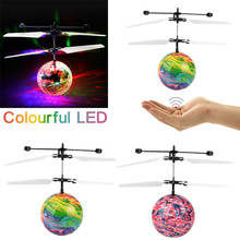 MUQGEW 2017 Hand Spinner RC Drone Helicopter Flash Flying Ball Infrared Induction Colorful LED Lighting Disco Kids Flyings Toy(China)