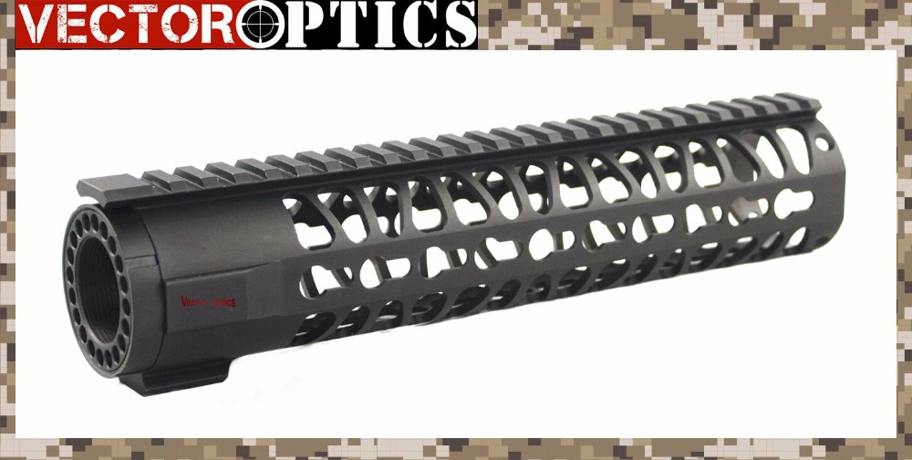 TAC Vector Optics .223 5.56mm KeyMod Tactical 10 inch One Piece Free Float Handguard Mount Bracket System with Detachable Rails<br><br>Aliexpress
