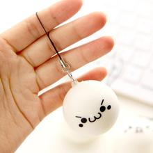 1PC 10CM Jumbo Squishy Soft Cute Expression Bread Bun Phone Charms Chain Strap(China)