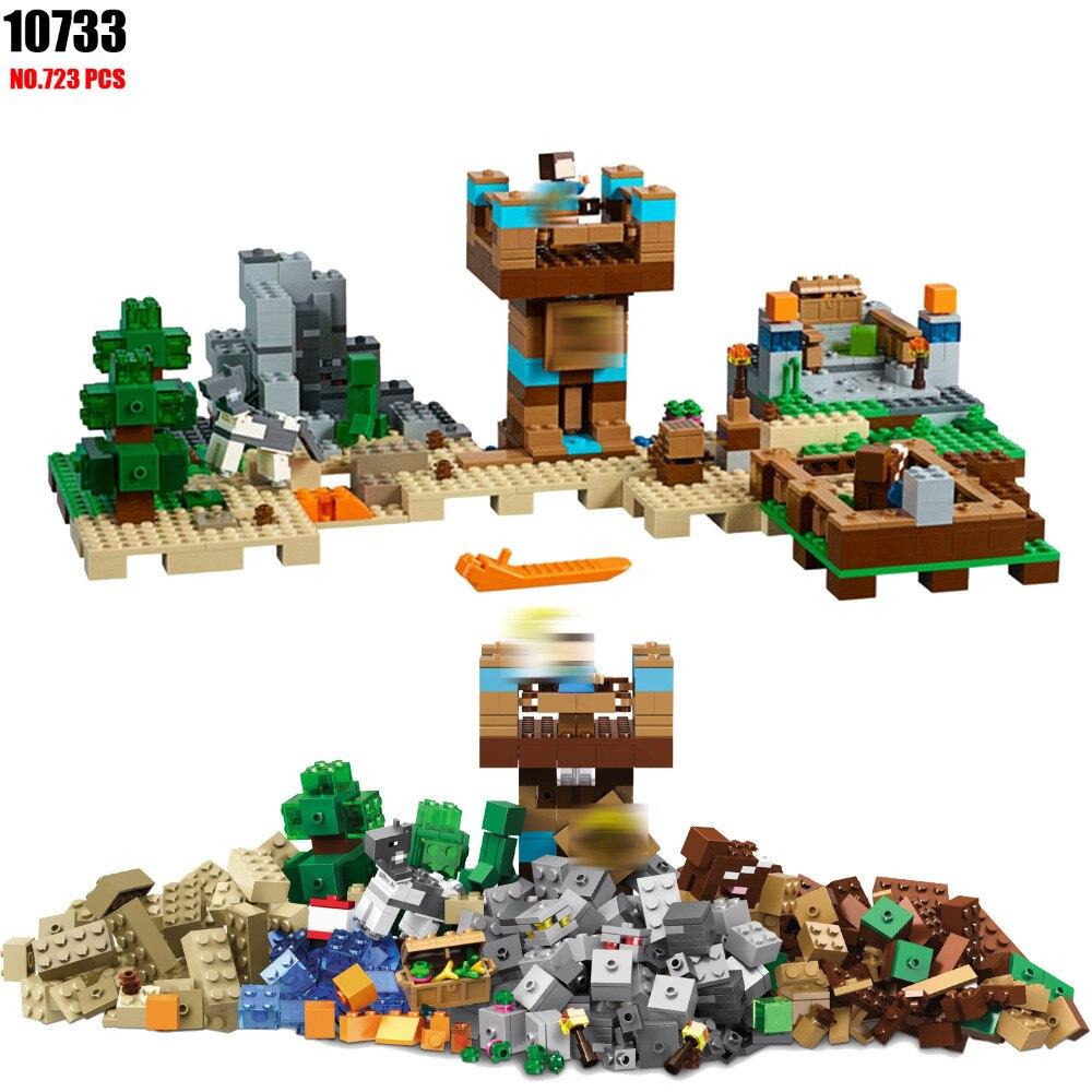BELA 10733 the Crafting Box 2.0 Building Blocks Sets Bricks My worlds Movie Model Kids Toys For Children Compatible 21135<br>