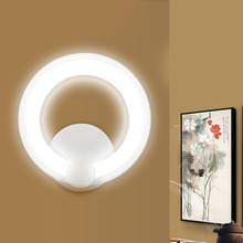 Modern Round LED Wall Light 85-265V 12W/16W Wall Mounted Living Room Bedroom Indoor LED Panel Wall Lamp Free Shipping(China)