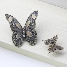 Antique Butterfly Cupboard Door Knobs and Handles Kitchen Cabinet Knob Drawer Pulls Furniture Decorative Handles