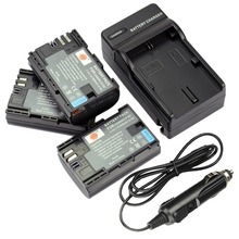 DSTE 3pcs LP-E6 LP-E6N Battery + Travel Charger for Canon EOS 5DS R 5D Mark II III 6D 7D 80D Camera