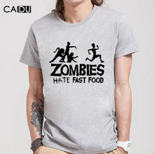 Summer Men T Shirts Zombies Funny Slogan Top Tees Glowing Swag Short Sleeve Cotton T-shirt O-Neck Casual Print Tshirt Plus Size