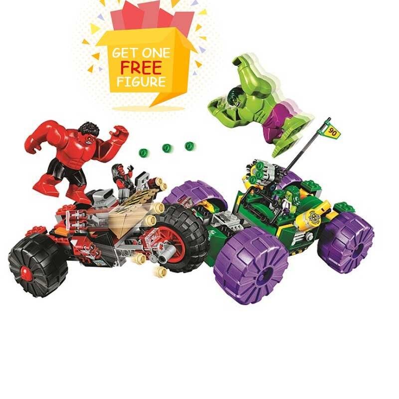Bela Pogo Compatible Legoe 10675 Hulk vs Red Hulk Super Heroes Marvel Avengers Building Blocks Bricks toys for children<br>
