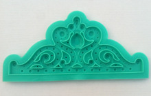The Larger Tiara silicone baking molds, cake fondant decorating tools, silicone soap mold
