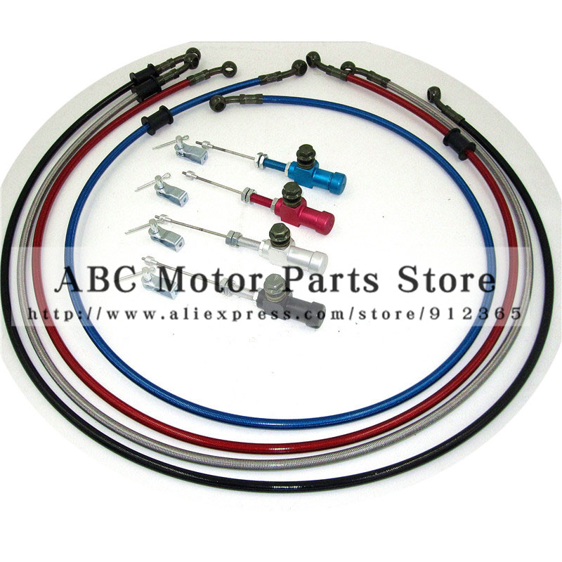 1200mm Colorful Motorcycle Hydraulic Reinforced Brake Or Clutch Oil Hose Line With master cylinder rod efficient transfer pump<br>