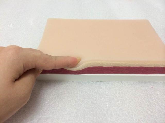 practice suture skin stitching model/practice/skin/surgical practice/medical skin model silica gel without impurities<br>