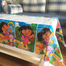 Party supplies 1PCS DORA THE EXPLORER theme party, birthday party decoration disposable table cloth cartoon pattern table cover