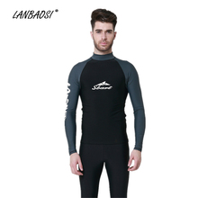 2017 New Wetsuit For Men Surfing Windsurf Snorkeling t Shirt Elastic TShirt Professional Swimwear Men's Protection Rash Guard