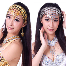 1pcs New Stylish Belly Dance Costume Dancing Coin Sequins Hair Band Headbands Silver/Gold