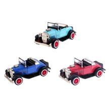 1:36 Kids Alloy Light Music Pullback Convertible Car Simulation Model Toys High imitation Ford convertible Classic Car Model(China)