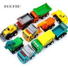 10Pcs/lot Mini Car-Styling Pull Back Car Boy Toy Lot Vehicle Sets Educational Tractor China Vehicle Kids Cheap Toys Dinky Model(China)