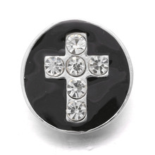 10pcs/lot Hot 20mm cross metal snap button jewelry luxurious alloy bottom fit xinnver snap buttons necklace ZA275