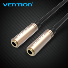 Buy Vention 3.5 Jack Female Female Audio Cable Gold Plated Audio Extension Cable Aux Cable 3.5mm Headphone Cable iPhone 6s for $2.99 in AliExpress store