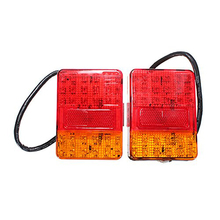 A pair 30LED Auto fire rear truck trailer van Ute Bus boat lamp tail E4 waterproof light