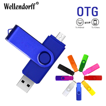 Hot Sale colorful OTG pen drive USB2.0 Memory Disk 4GB 8GB 16GB 32GB 64GB USB Flash Drive for Mobile Phone/PC Without logo(China)