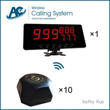 One Set Wireless Call Calling System Waiter Server Paging Service System One Display Receiver 10 Calling Buttons