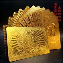 24K Durable Gold Foil Poker Waterproof PET Playing Card Promotion Gift Advertising Poker(China)