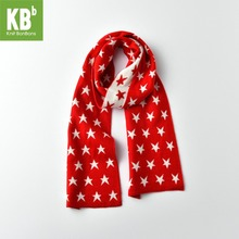 2017 KBB Spring Winter New Style Office Women Men Design Yarn Knit Warm Adult Muticolors Fashion Lady Star Scarf Scarves Wrap(China)