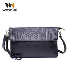 Wmnuo Brand Women Handbags Crocodile Grain Crossbody bags Soft Cow Leather Lady Shoulder Bags Messenger School Bags Evening Bags