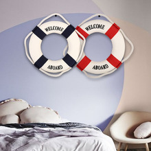 Wall Hanging Life Preserver Ring Home Bar Decor Tavern Party Nautical Living Room Decoration