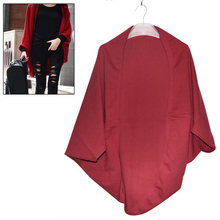 New Hot Women's Batwing Top Knit Cape Cardigan three quarter sleeve Knitwear