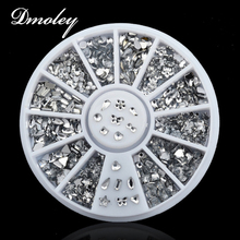Nail Art Decorations Transparent 3D Rhinestone Crystal Nail Art Salon Stickers Decal Tips Glitters DIY Decorations Chic Design(China)