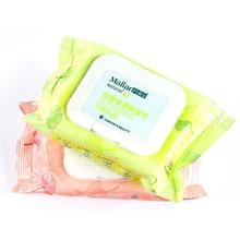 50 pcs make up remover wipes Makeup removal cotton pad wipes facial lips eyes make up cleansing wet tissues towel A5