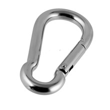 304 Stainless Steel Carabiner Clip Snap Spring Fast Hook Buckle M4*40mm 10 pieces packed