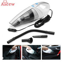 AUDEW 100W Portable Car Vacuum Cleaner Wet And Dry Dual Use Auto Cigarette Lighter Filter 12V White For Home Auto Van Caravan