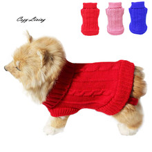 1 PC Pet Clothes For Small Dog Pet Dog Cat Clothes Winter Warm Sweater Knitwear for Dogs Puppy Coat Apparel Winter D19